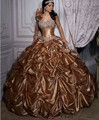 2017 vestido de bola de quinceanera vestidos brillantes faldas de encaje sweet 16 Años de La Princesa Vestidos De 15 Años Vestidos De 15 Anos