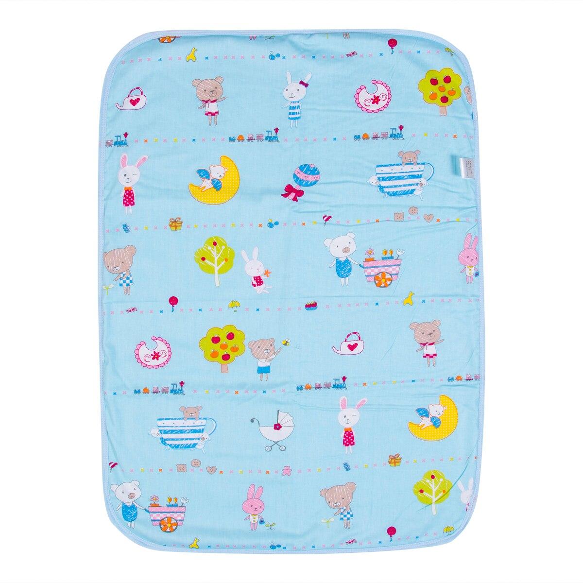 blue waterproof changing mat