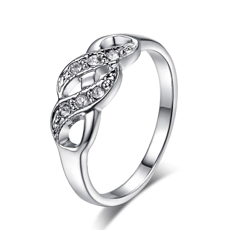 Одежда высшего качества zyr226 волна Форма серебро Цвет обручальное кольцо Австрийские кристаллы Полные размеры Оптовая