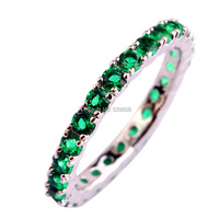 Luxuriant Series Emerald Quartz 925 Silver Ring Size 6 7 8 9 10 11 12 13 New Fashion Women Jewelry Rings Wholesale Free Shipping