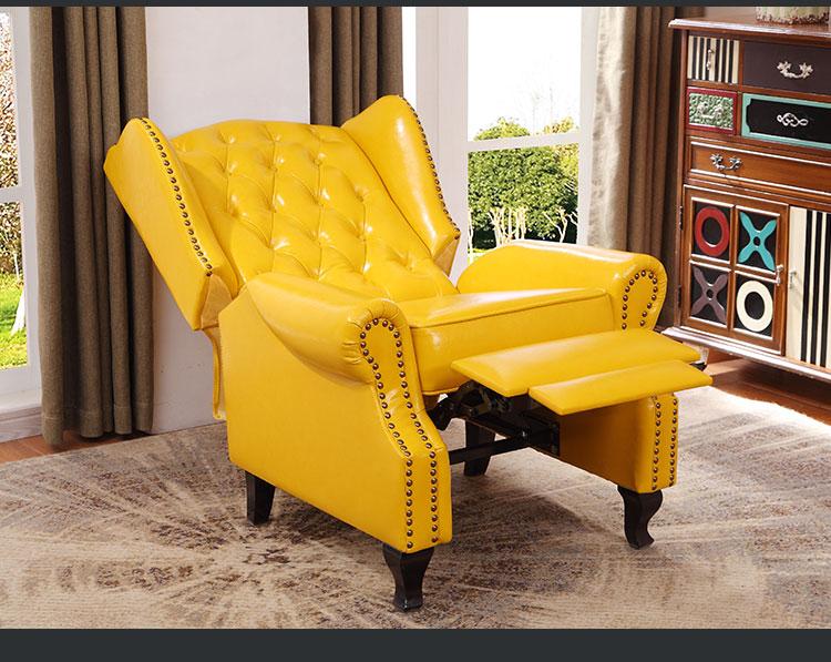 Encantador Cuero Real De Los Muebles Sillas Reclinables Galería ...