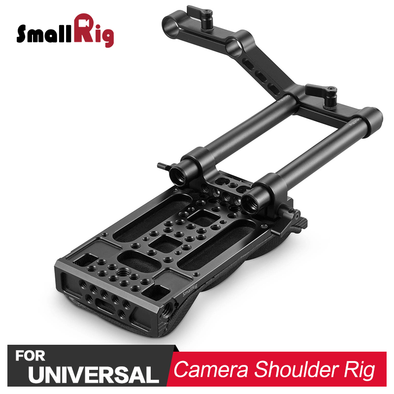 SmallRig Video Stabilizer Shoulder Pad Kit with Z-shape offset raiser for Video Camcorder Camera DV/DC Support System DSLR Rig