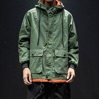 99cb00b978 ... odzieży wierzchniej płaszcz odzież męska streetwear mężczyzna kurtka  mężczyźni high street bluzy z kapturem hip hop kurtki moda ubrania. 2018  Contrast ...