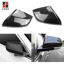 ZXMT 2PCS Carbon Fiber ABS Side Rearview Mirror Cover Trim For Cadillac ATS-L 2014-2018