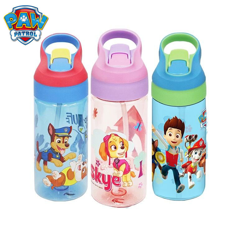Genuine Paw patrol Tritan pure bottle kids Cartoon sucker cup 500ml with handle Portable sports water cup kids toy gift 1pc Щенячий патруль