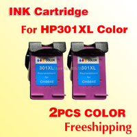 2pcs HP301 Color INK Cartridge Compatible For HP 301 301XL Color Deskjet 1000 1050 2000 2050