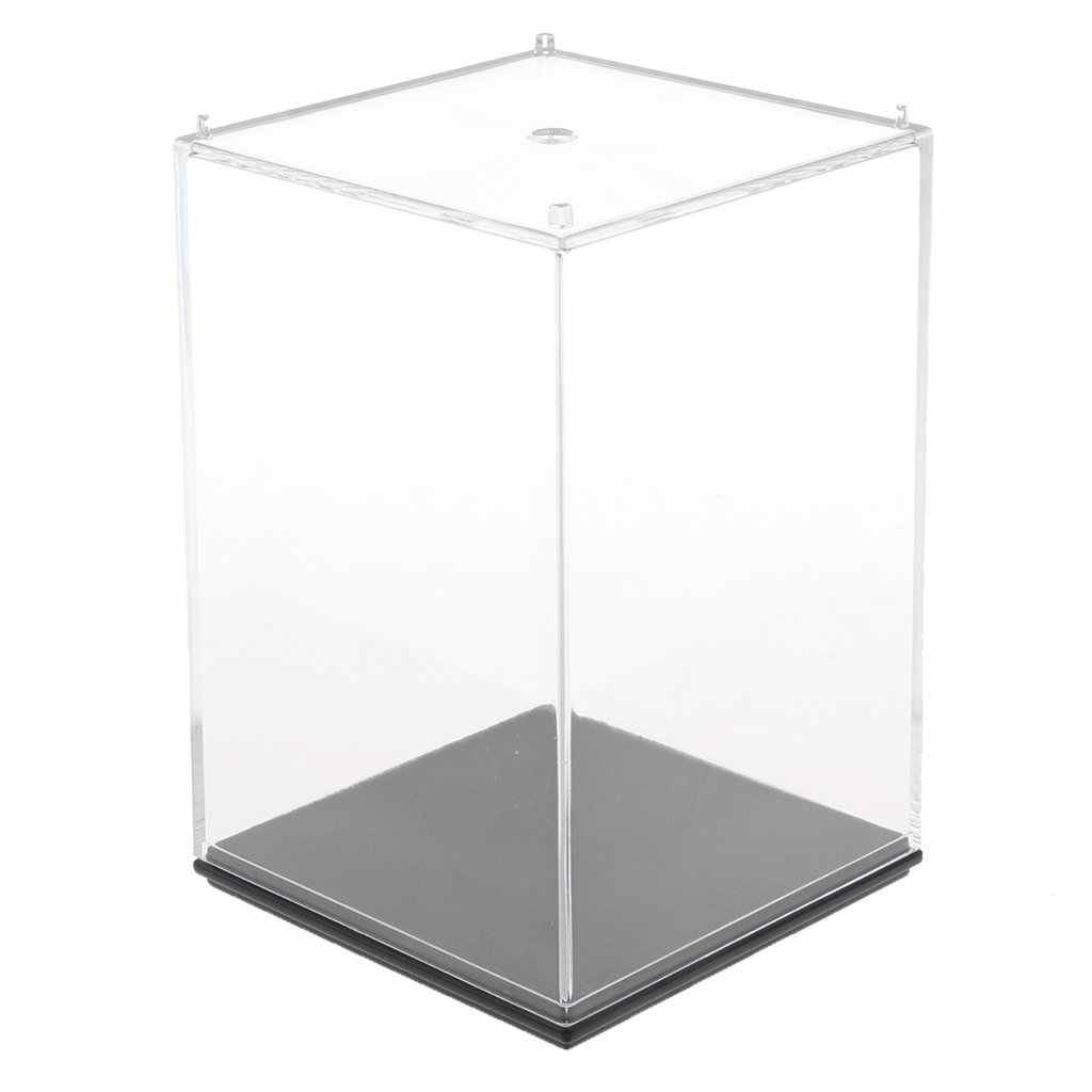 Dustproof Acrylic Mini Display Box Storage Case Organizer Transparent Showcase for Collection Model Figurine Doll Toy Protection