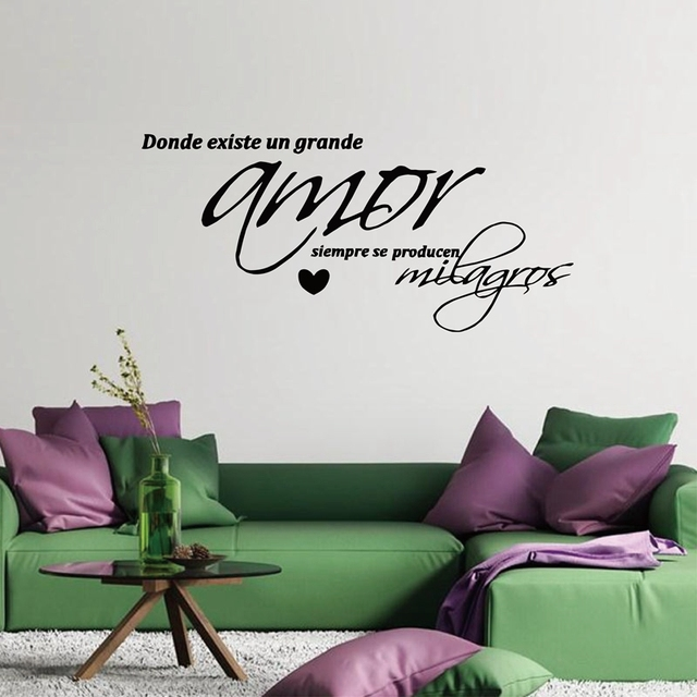 Vinyl Wall Decal Sticker Amor , Arte De La Pared Dormitorio  Wall Stickers  Bedroom Decor