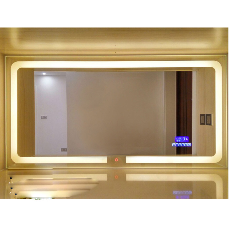 Smart LED Toilet Bathroom Mirror Anti fog Touch Screen Wall Mirror Makeup 700*900mm Rectangle Vanity MirrorsWith Bluetooth Music 1