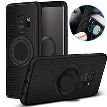 Magnetic Finger Ring Case for Samsung Galaxy S7 Edge S8 S9 Plus Note 8 360 Holder Stand Case for A3 A5 A7 2017 A6 A8 Plus 2018(China)