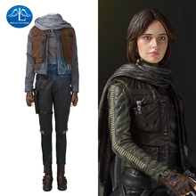MANLUYUNXIAO High Quality Rogue One A Star Wars Story Jyn Erso Costume Adult Women Full Set