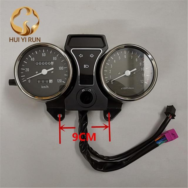 Lesbar Tacho Gauge Panel Motorrad Kilometerzähler Instrument LED KM/H Racer ATV für GS