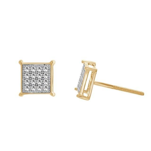 1 10 Carat Diamond Micro Pav Eacute Square Stud Earrings In