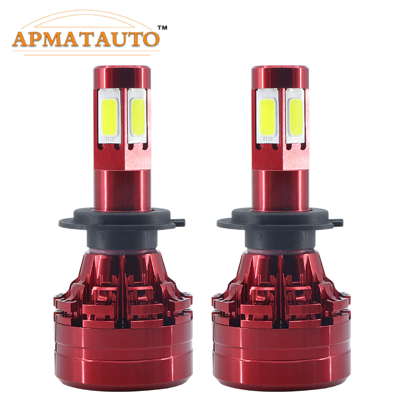 LED 4 Side Headlight Bulb H4 9003 HB2 H7 H8 H11 9005 HB3 9006 HB4 9008 H13 Hi-Lo Beam 18000lm 6500K Auto Headlamp Fog Light zdatt 2pcs 12000lm car led headlights h4 h7 h8 h11 9005 hb3 canbus auto led bulb hi lo beam 100w pair 12v fog lamp automobiles