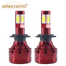 LED 4 Side Headlight Bulb H4 9003 HB2 H7 H8 H11 9005 HB3 9006 HB4 9008 H13  Hi-Lo Beam 18000lm 6500K Auto Headlamp Fog Light стоимость