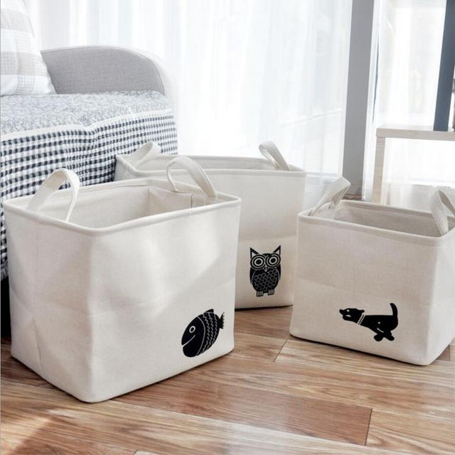Superbe Cartoon Animals Double Thick Laundry Hamper Home Decoration Bathroom Dirty  Clothes Storage Buckets Box Kids Toy