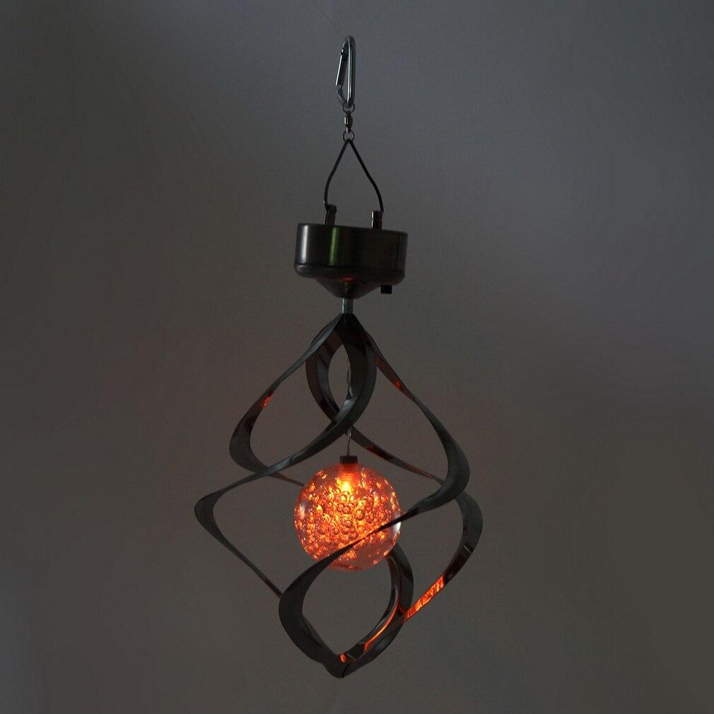 Farbwechsel Solar Powered LED Licht Windspiele Wind Spinner Outdoor Hängen Spirale Garten Licht Hof Dekoration
