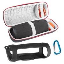 Twarde torby głośnikowe EVA Carry Zipper + miękki futerał silikonowy pokrowiec na głośnik JBL Charge 4 Bluetooth do głośników JBL CHARGE4