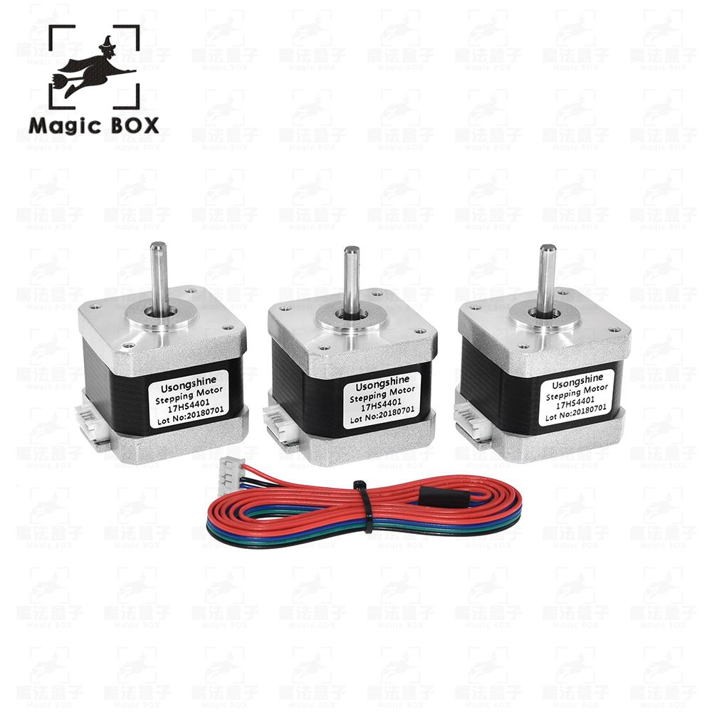3D printer 3pcs.CE certification lead Nema17 Stepper Motor 42 motor Nema 17 motor 42BYGH 1.7A (17HS4401) motor for CNC XYZ 5pcs 4 lead nema17 stepper motor 42 motor nema 17 motor 42bygh 38mm 1 5a 17hs4401 motor for cnc xyz 3d printer motor