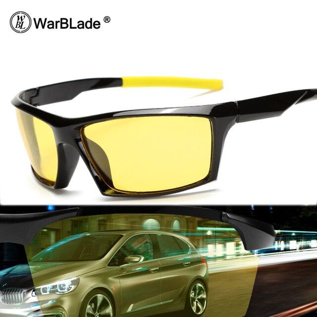 5354ad7b12 WarBLade New Night Vision Sunglasses Men Brand Designer Fashion Polarized  Night Driving Enhanced Light At Rainy Cloudy Fog Day