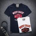 Новый 2017 лето американский стиль мода письмо печати футболки мужчин hip pop хлопок футболка homme мужская clothing размер m-5xl/DTX16