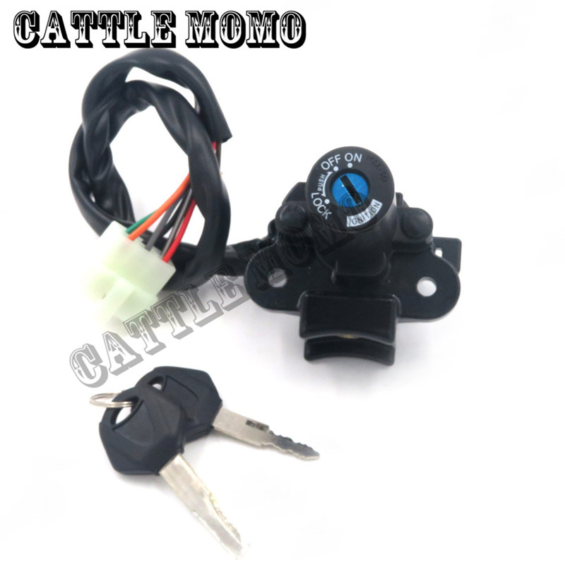 For Ninja 300 2013 2014 Motorcycle Ignition Switch Gas Cap Cover Seat Lock Key Set Motorbike