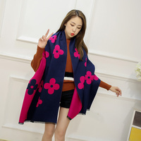 2016 High Quality Luxury Brand Scarves Women Autumn Winter Faux Cashmere Warm Scarf Pashmina Soft