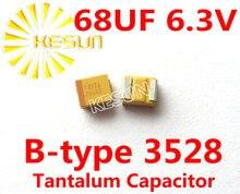 68 МКФ 6.3 В B тип 1210 3528 686J SMD Тантал Конденсатор Разъем TAJB686K006RNJ x100PCS Бесплатная Доставка