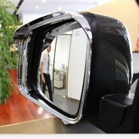 Car Accessories 2PCS Rear Mirror Cover Trim Rain Umbrella Decoration ABS Chrome Fit For Dodge 2013 2014 2015 Journey Interior