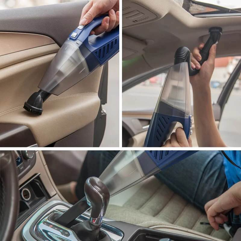цена на yiJiA 12V Vehicle Vacuum Cleaner Strong High-Power Car Wet And Dry dual-use hand-held Car Mini Vacuum Cleaner 5M line free ship