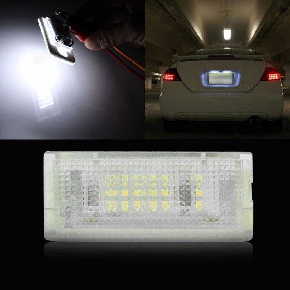 18 3528 SMD LED LICENSE PLATE LIGHT For BMW E46 4D Sedan 5D Wagon new arrival 2pcs 18 smd 3528 led license plate light lamp bulb white for bmw e46 2 door 1998 2003 12 30v free shipping