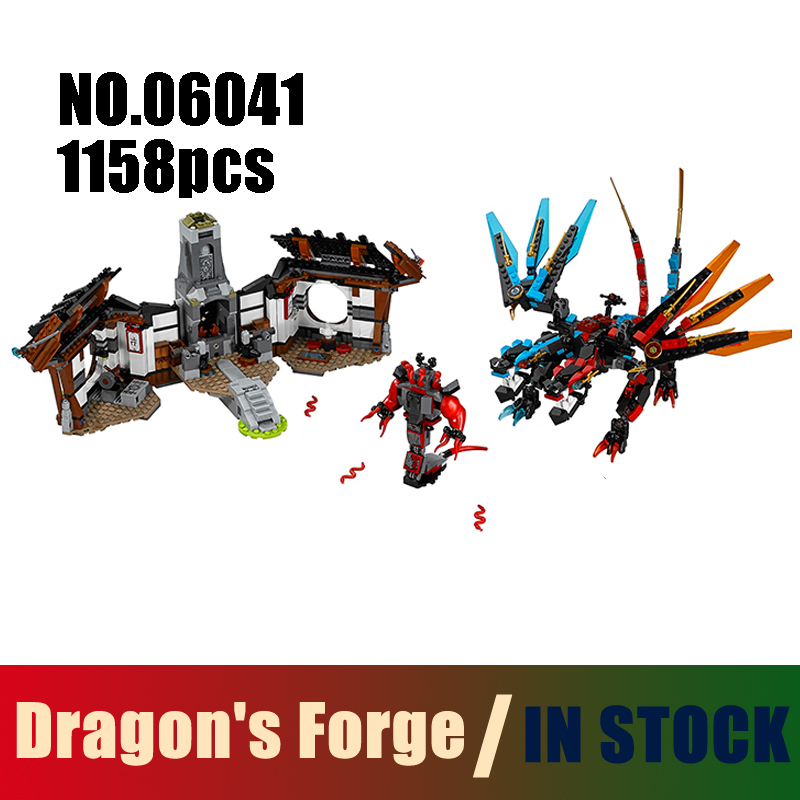 Compatible Lego Ninjago 70627 Models Building Toy Ninjago Figure Dragon's Forge 06041 Building Blocks Toys & Hobbies compatible with lego ninjago 9450 lele 79132 959pcs blocks ninjago figure epic dragon battle toys for children building blocks
