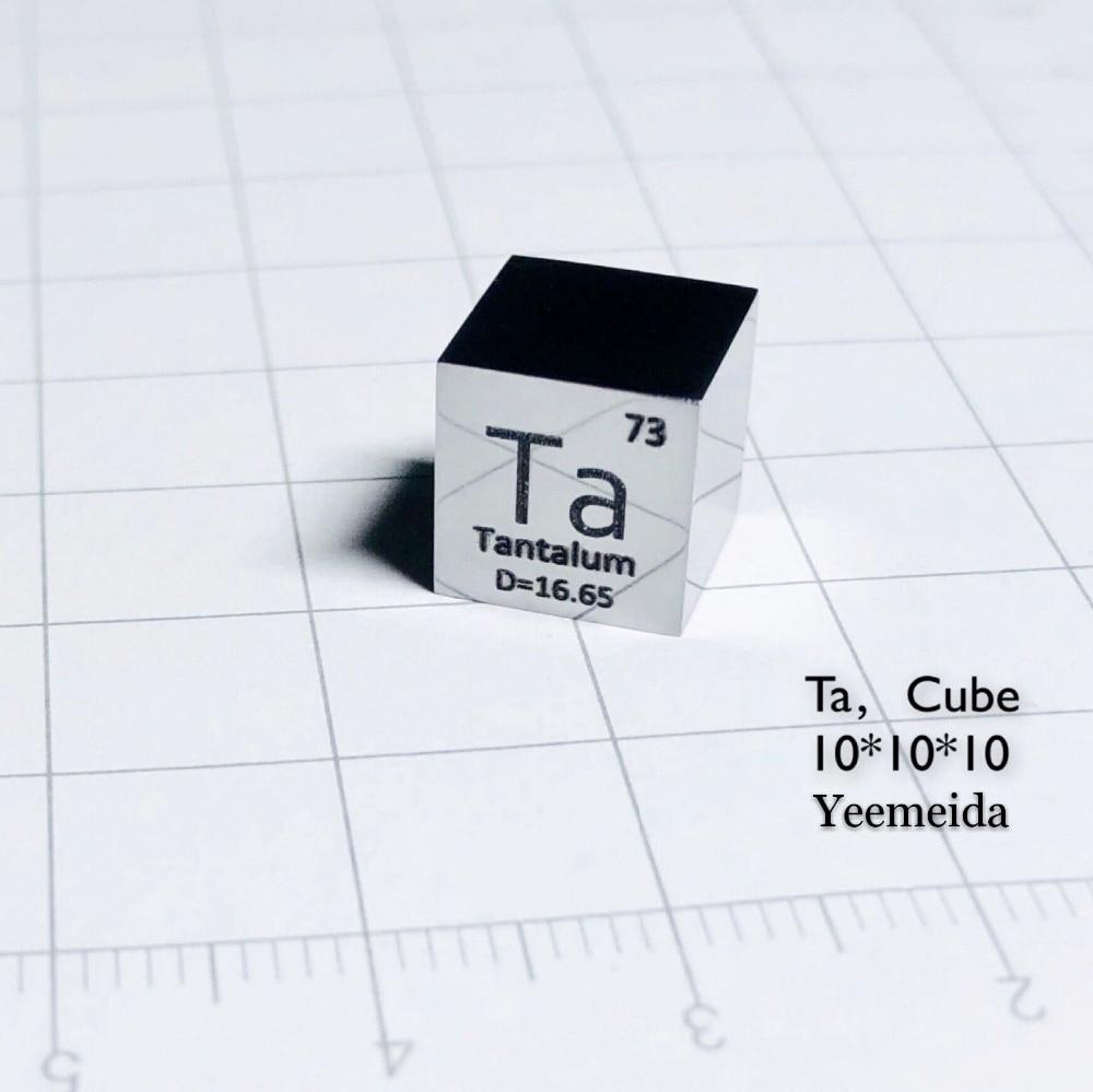 1pcs High Purity 99.95% Tantalum Ta Metal Carved Element 10mm Cube 1pcs High Purity 99.95% Tantalum Ta Metal Carved Element 10mm Cube