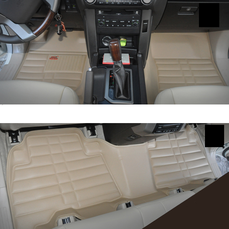 fast shipping leather car floor mat for toyota land cruiser prado lexus gx460  2010-2015 2016 2017 4th generation 10 16 for land rover discovery 4 l319 2010 2016 accessories interior leather carpets cover car foot mat floor pad 1set