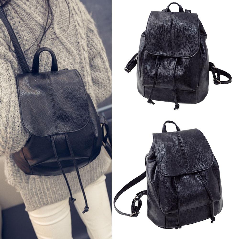 Women Leather School Backpack Satchel Travel Girls Rucksack Handbag Shoulder Bag