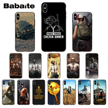 Купить с кэшбэком Babaite Playerunknown's Battlegrounds PUBG Soft TPU Silicone Phone Case Cover for iPhone X XS MAX 6 6S 7 7plus 8 8Plus 5 5S XR