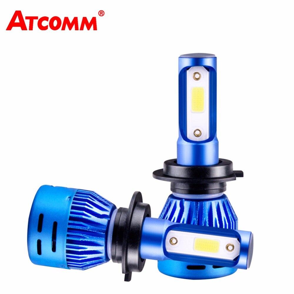 H4 LED Lampe H1 Phare De Voiture Ampoule 9005/HB3 9006/HB4 COB Puce 6500 k Super Blanc 8000Lm LED Lampe H7 H11 H8 Lumière Pour Automobiles