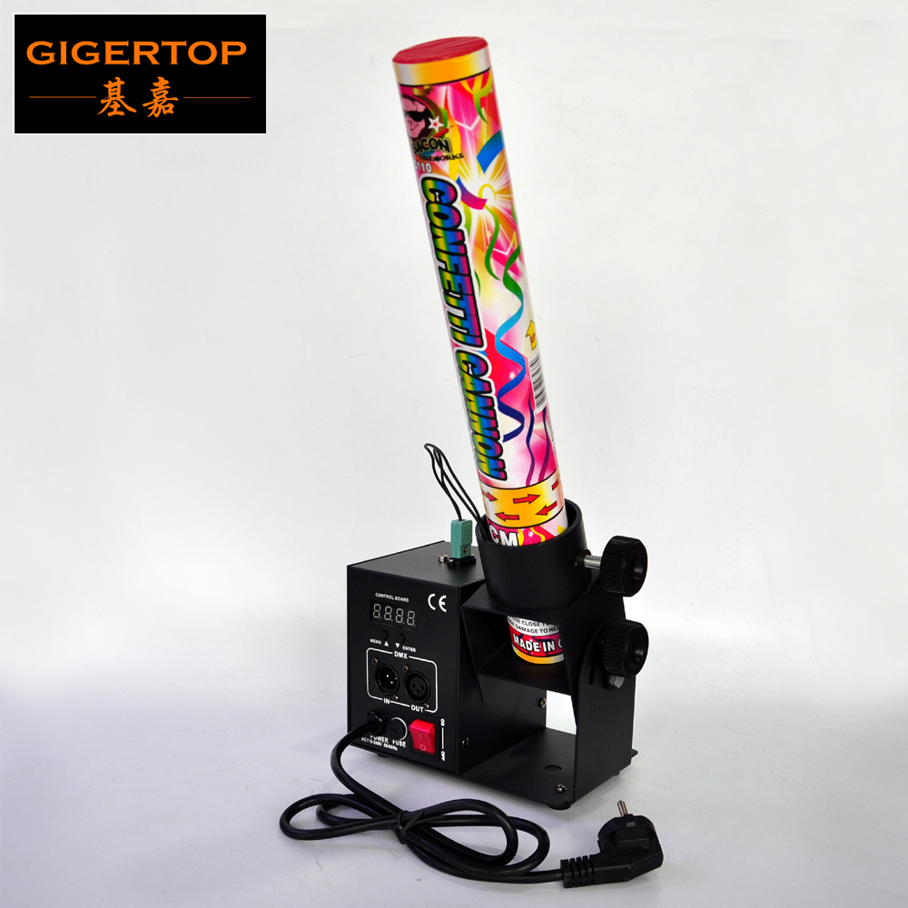 Freeshipping One Head Electrical Shoot Mini Confetti Jet Machine Build In Power Cable Support 40cm/80cm Gas Confetti Cannon