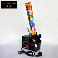 Freeshipping One Tube Electrical Shoot Mini Confetti Jet Machine Build In Power Cable Support 40cm/80cm Gas Confetti Cannon