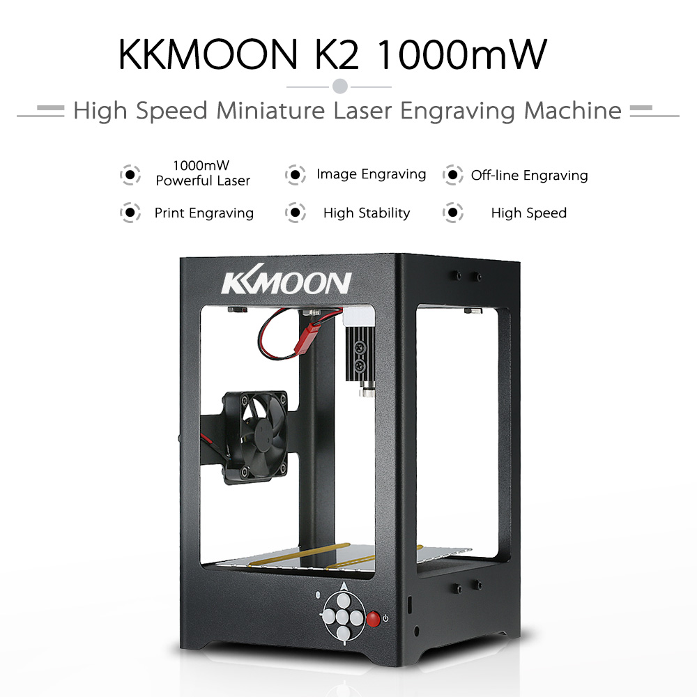 KKmoon K21000mW Laser Engraving Machine engraver laser cutter cnc router off-line operation+1000mW 405nm Laser Head +Screwdriver laser head owx8060 owy8075 onp8170
