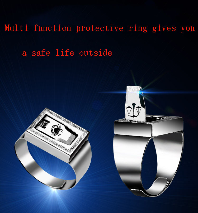 latest 12 constellation stainless steel defensive combat ring emergency safety tool outdoor hidden survival weapon punk ring