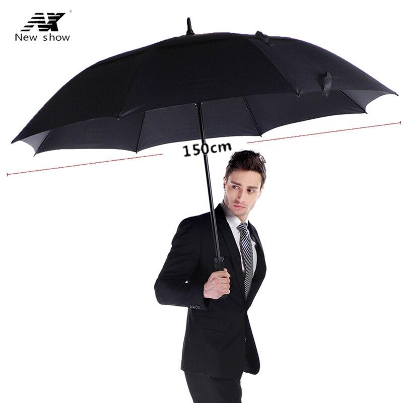 NX golf regenschirm männer starke winddicht Semi automatische lange regenschirm große mann und frauen Business regenschirme mens Custom logo