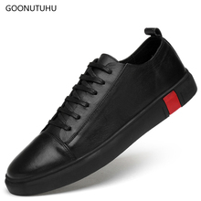 2019 new fashion men's shoes genuine leather breathable blue black white platform shoes man lace up shoes for men big size 36-47 цены онлайн