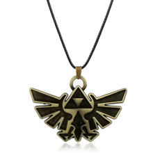 dongsheng Fashion Vintage Jewelry Anime Figures Pendane Necklace The Legend of Zelda Badge Logo Necklaces for Fans-30(China)