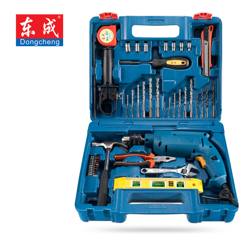 цена на Household Multi Tool Kit Electric Tool Set FF04-13 Impact Drill with Drill Bit Screwdriver Set Hammer Knife Socket Herramientas