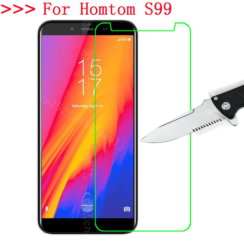Homtom S99 Tempered Glass 9H 2.5D Premium Screen Protector Film For Homtom s 99 Mobile Phone Protective Films Case 9(China)
