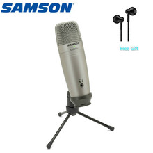 Original Samson C01U Pro USB Condenser Microphone Real-time Monitoring Condenser MIC For Broadcasting Music Narrator Recording 100% original samson go mic clip microphone computer portable usb condenser video record wav microphone for laptop ipad juitar