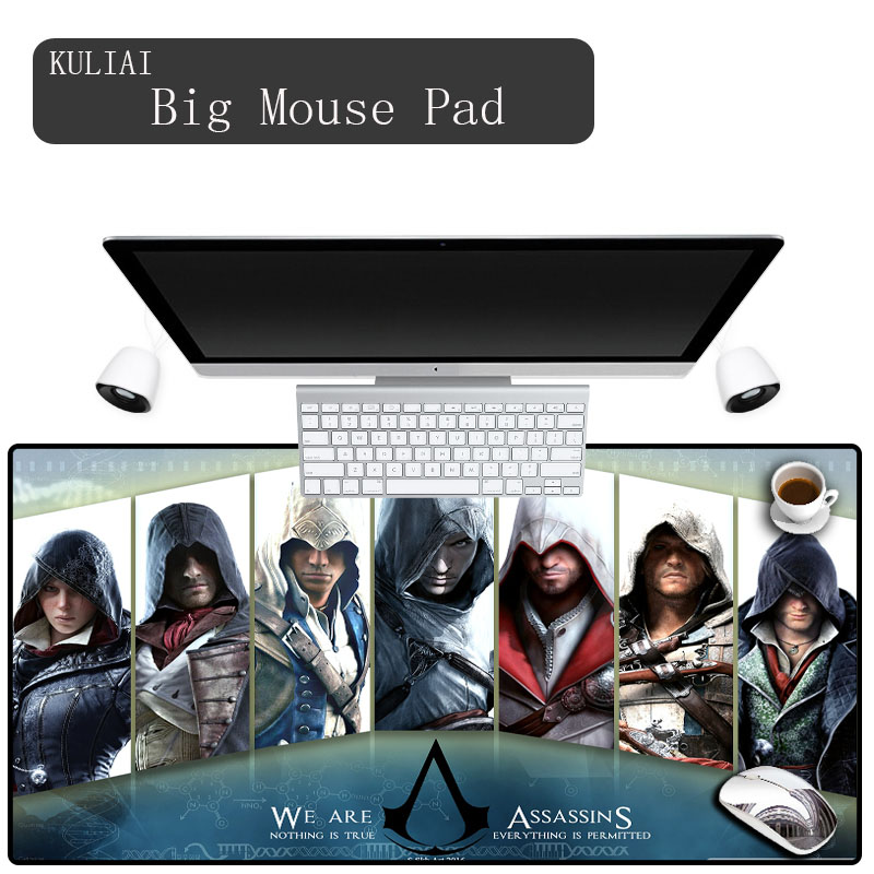 KULIAI Assassins Creed Gamer Mouse Pad 400x900mm Notbook Mouse Mat Gaming Mousepad Large Colourful Pad Mouse PC Desk Padmouse ...