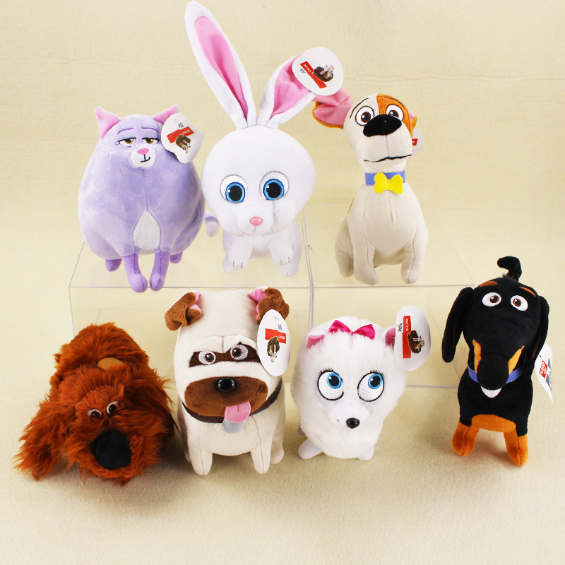 10 24cm 7 Styles Pets Plush Toys Dogs Cats Rabbits Buddy Max Snowball Mel Chloe Animals