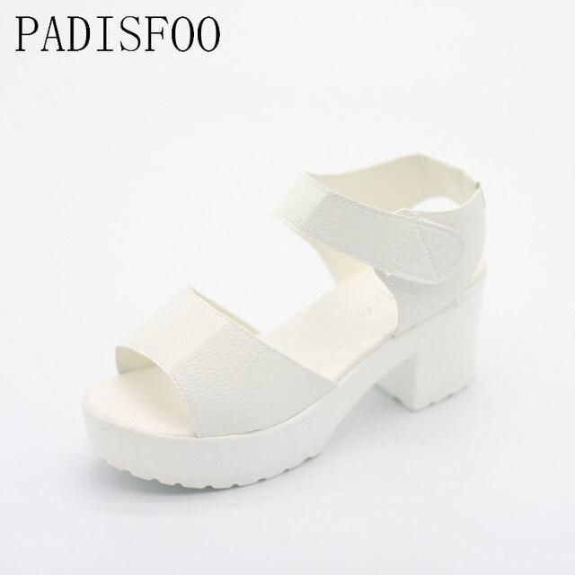 POADISFOO sandals women Summer shoes Woman wedges platform sandals high heel soft  women shoes sanglaide shoes thick heel .XL-21